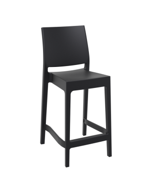 Maya Outdoor Stool 650mm colour BLACK available to order now!