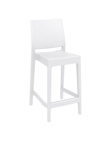 Maya Outdoor Stool 650mm colour WHITE available to order now!