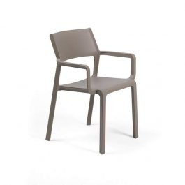 Trill Outdoor Café Arm Chair colour TAUPE available to order now!