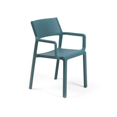 Trill Outdoor Café Arm Chair colour TEAL available to order now!