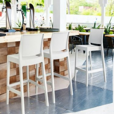 Maya Outdoor Stool 750mm colour WHITE available to order now!