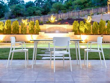 Lisa Outdoor Café Chair colour WHITE available to order now!