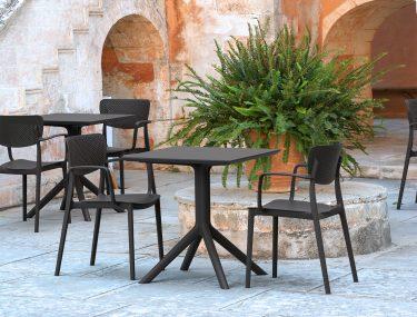 Loft Outdoor Café Chair colour BLACK available to order now!