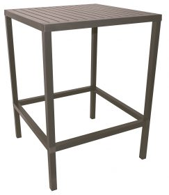 Cube Outdoor Bar Table colour TAUPE available to order now!