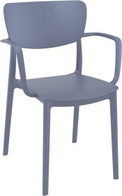 Lisa Outdoor Café Chair colour ANTHRACITE available to order now!