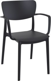 Lisa Outdoor Café Chair colour BLACK available to order now!
