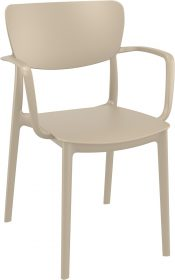 Lisa Outdoor Café Chair colour TAUPE available to order now!