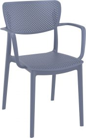 Loft Outdoor Café Chair colour ANTHRACITE available to order now!