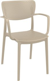Loft Outdoor Café Chair colour TAUPE available to order now!
