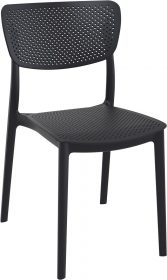 Lucy Outdoor Café Chair colour BLACK available to order now!