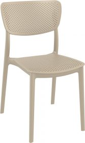 Lucy Outdoor Café Chair colour TAUPE available to order now!