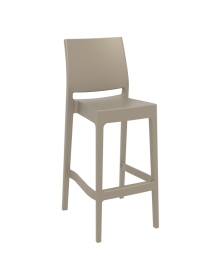 Maya Outdoor Stool 750mm colour TAUPE available to order now!
