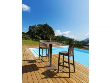Jamaica Outdoor Stool colour CHOCOLATE available to order now!