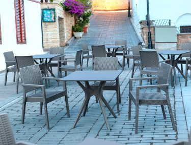 Ibiza Outdoor Table 800 colour ANTHRACITE available to order now!