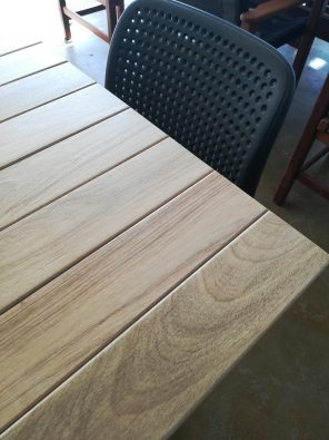 Square 700mm Teak Timber Table Top available to order now!