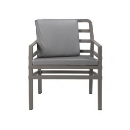 Aria Outdoor Arm Chair colour TAUPE and GREY available to order now!