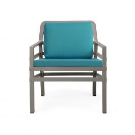 Aria Outdoor Arm Chair colour TAUPE and TEAL available to order now!