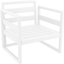 Mykonos Outdoor Lounge Armchair colour WHITE available to order now!