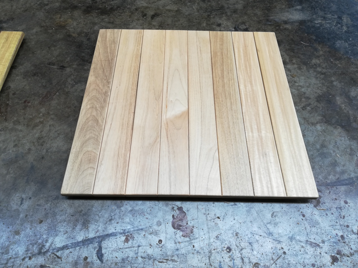 Square Teak Timber Table Top 700mm