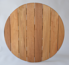 Round 700mm Teak Table Top available to order now!