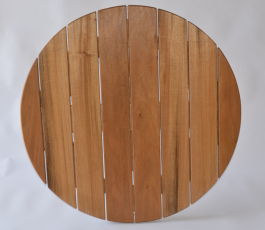 Round 800mm Teak Timber Table Top available to order now!