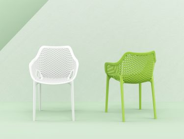 Air Outdoor Arm Chair colour GREEN and WHITE available to order now!