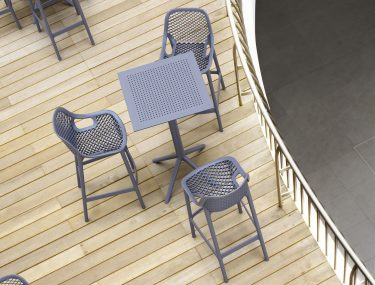 Air Outdoor Stool 750mm colour ANTHRACITE available to order now!