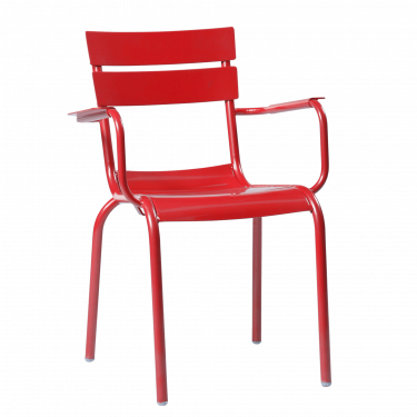 Porto Outdoor Arm Chair colour RED available to order now!