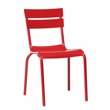 Porto Outdoor Café Chair colour RED available to order now!