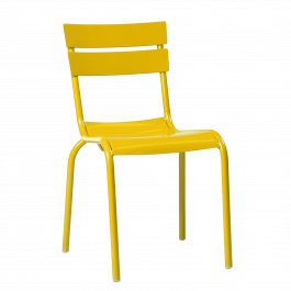 Porto Outdoor Café Chair colour YELLOW available to order now!