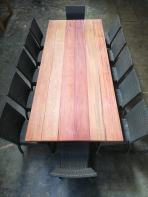 Binx Timber Table in SPOTTED GUM available to order now!