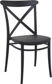 Cross Outdoor Chair colour BLACK available to order now!