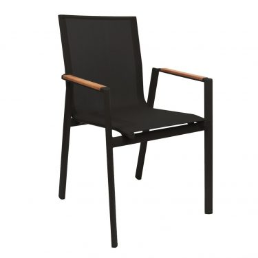 Valencia Outdoor Arm Chair colour BLACK available to order now!