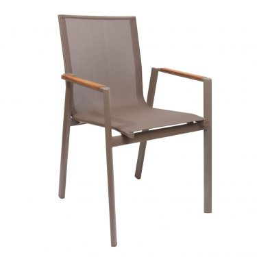 Valencia Outdoor Arm Chair colour TAUPE available to order now!
