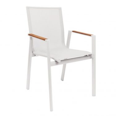 Valencia Outdoor Arm Chair colour WHITE available to order now!