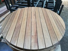 Round 1200mm Teak Table Top available to order now!