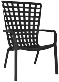 Folio Outdoor Armchair colour anthracite available to order now!