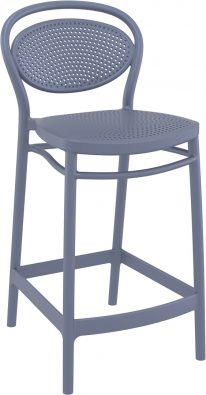 Marcel Outdoor Stool 650mm colour ANTHRACITE available to order now!