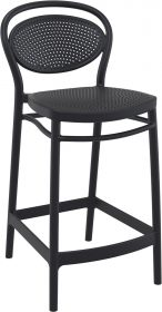 Marcel Outdoor Stool 650mm colour BLACK available to order now!