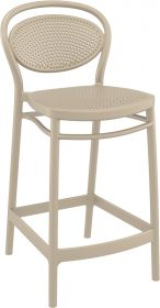 Marcel Outdoor Stool 650mm colour TAUPE available to order now!
