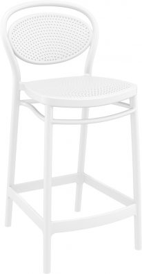 Marcel Outdoor Stool 650mm colour WHITE available to order now!