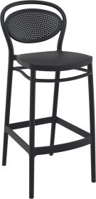 Marcel Outdoor Stool 750mm colour BLACK available to order now!