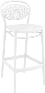 Marcel Outdoor Stool 750mm colour WHITE available to order now!