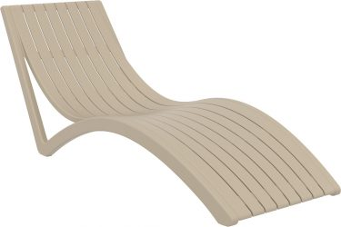 Slim Sun Lounge in colour TAUPE available to order now!