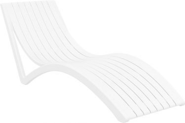 Slim Sun Lounge in colour WHITE available to order now!