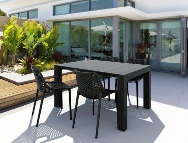Vegas Outdoor Extendable Table 1000-1400mm colour BLACK available to order now!