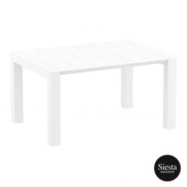 Vegas Outdoor Extendable Table 1000-1400mm colour WHITE available to order now!