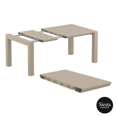 Vegas Outdoor Extendable Table 1000-1400mm colour TAUPE available to order now!