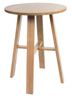 Chunk Round 800mm Timber Bar Table colour NATURAL available to order now!